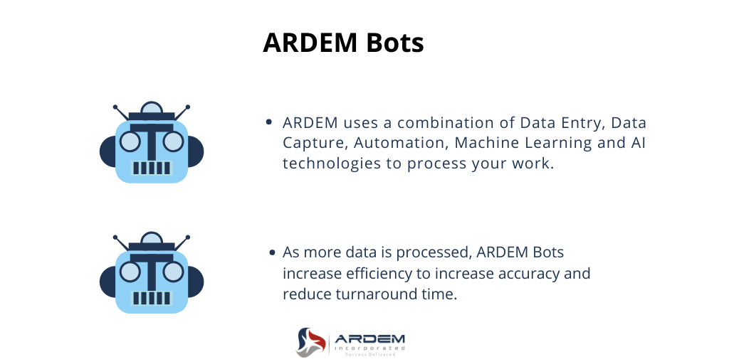 ARDEM offers advanced automation with proprietary bots.