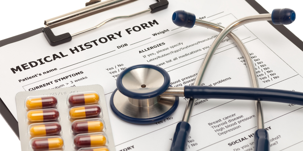 Indexing and recording patient forms and medical data for future reference.