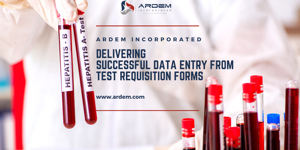 Accurate data entry from patient forms and test requisistion forms.