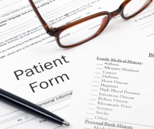 Extracting patient demographics from test requisition forms.